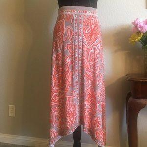 INC shark bite skirt